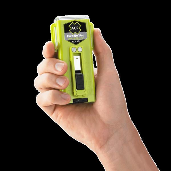 Firefly pro waterbug strobe marker lights in hand